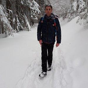 Michael Leppan na vrcholu Malá Prašivá (5.1.2019 17:50)