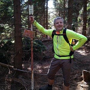 Vítězslav Vrána na vrcholu Malý Travný (14.9.2019 11:29)