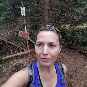 Marcela Kubíčková na vrcholu Malý Travný (19.10.2019 14:22)
