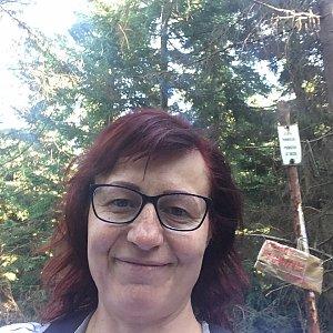 Kamila  Petrová na vrcholu Malý Travný (27.10.2019 13:08)