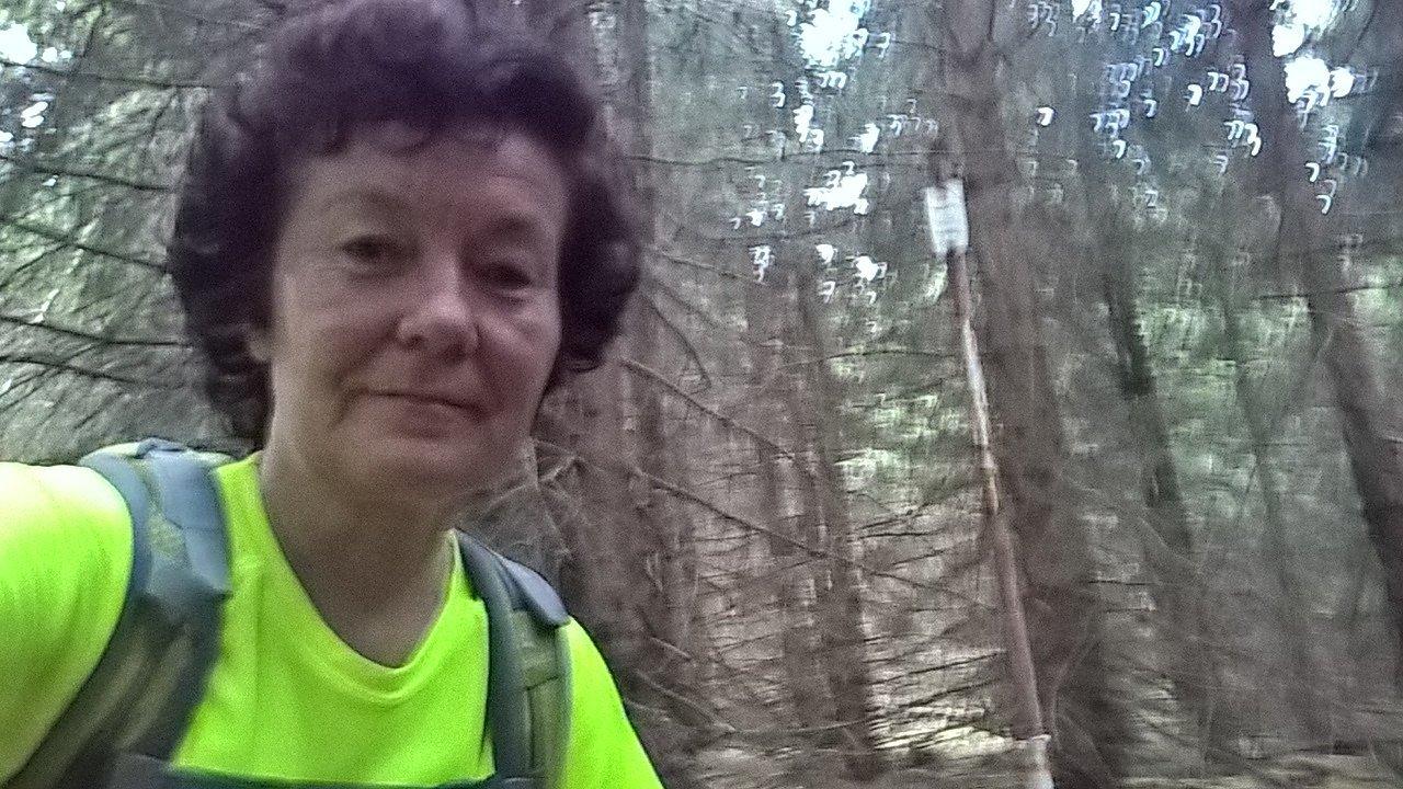 Anna na vrcholu Malý Travný (5.8.2018)