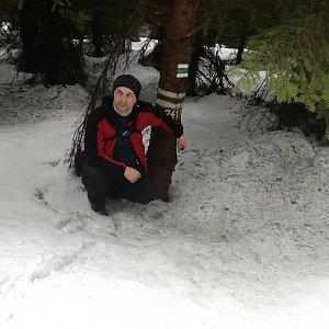 Jiří P na vrcholu Malý Travný (3.3.2019 15:38)