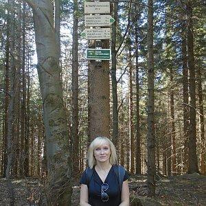 Ilona Mušálková na vrcholu Malý Travný (23.3.2019 13:00)