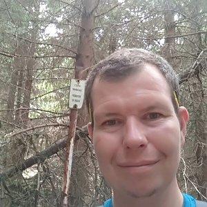 Michal Krčmář na vrcholu Malý Travný (15.6.2019 14:29)