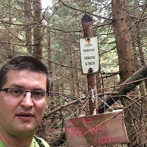 Radim Škrabánek na vrcholu Malý Travný (23.6.2019 14:59)