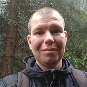 Michal Krčmář na vrcholu Malý Travný (14.7.2019 12:23)