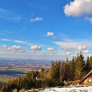 Jiřka Niedobová na vrcholu Malý Javorový (10.3.2020 14:00)