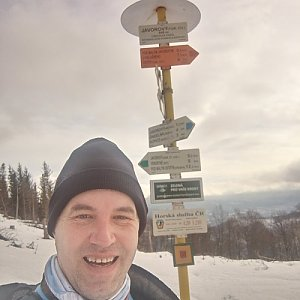 Kaďous na vrcholu Malý Javorový (22.1.2021 9:31)