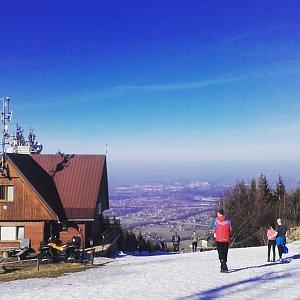 Paula Siudová na vrcholu Malý Javorový (18.2.2019 14:00)