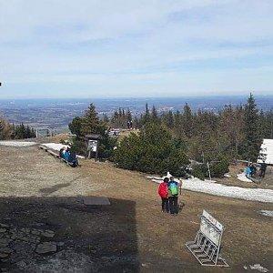 Petr Rzeplinski na vrcholu Malý Javorový (17.3.2019 13:00)
