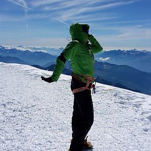 AndKapka na vrcholu Mont Blanc / Monte Bianco (8.7.2018 10:21)