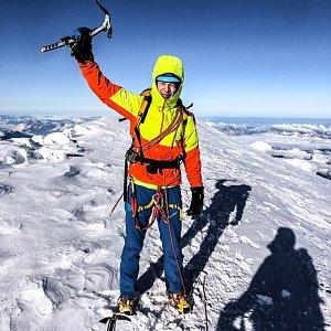 Jirka Cimler na vrcholu Mont Blanc / Monte Bianco (28.9.2019 10:45)