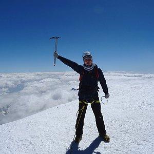 Jan Rendl na vrcholu Mont Blanc / Monte Bianco (26.6.2018 15:47)