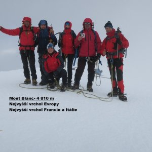 Jirka Zajko na vrcholu Mont Blanc / Monte Bianco (31.7.2018 7:44)