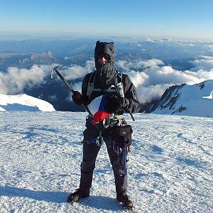 Patejl na vrcholu Mont Blanc (29.8.2013 7:50)