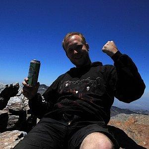 Petr Šrámek na vrcholu Mulhacén (23.6.2012 13:30)