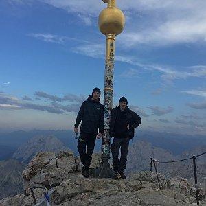 Jenda na vrcholu Zugspitze (1.8.2017 19:07)