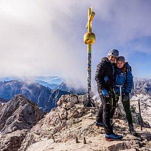 Ondřej Buček na vrcholu Zugspitze (4.7.2020 8:30)