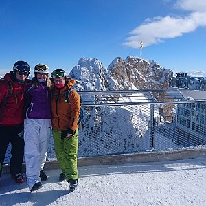 Martina Šinclová na vrcholu Zugspitze (31.1.2019 12:18)