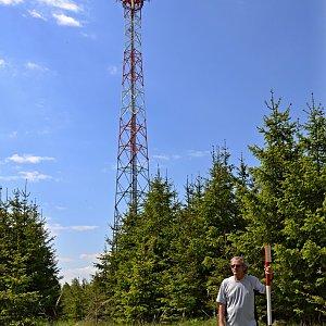 Jarda Vála na vrcholu Veský vrch (31.5.2021)