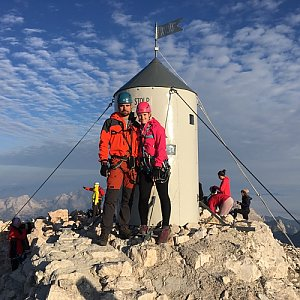 Míša Mishell Vrňatová na vrcholu Triglav (20.8.2019 7:45)