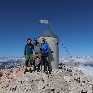 Martin Konvičný na vrcholu Triglav (3.9.2019 11:45)