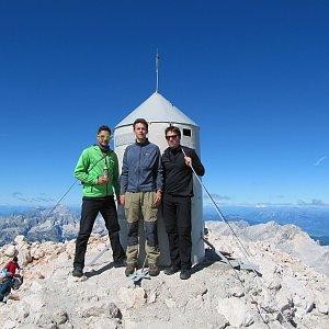 Martin Konvičný na vrcholu Triglav (3.9.2013 11:54)