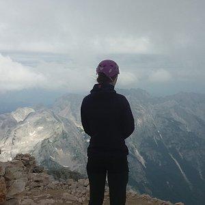 Štěpánka na vrcholu Triglav (23.7.2018 11:00)