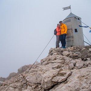 Ondřej Buček na vrcholu Triglav (6.7.2018 12:13)