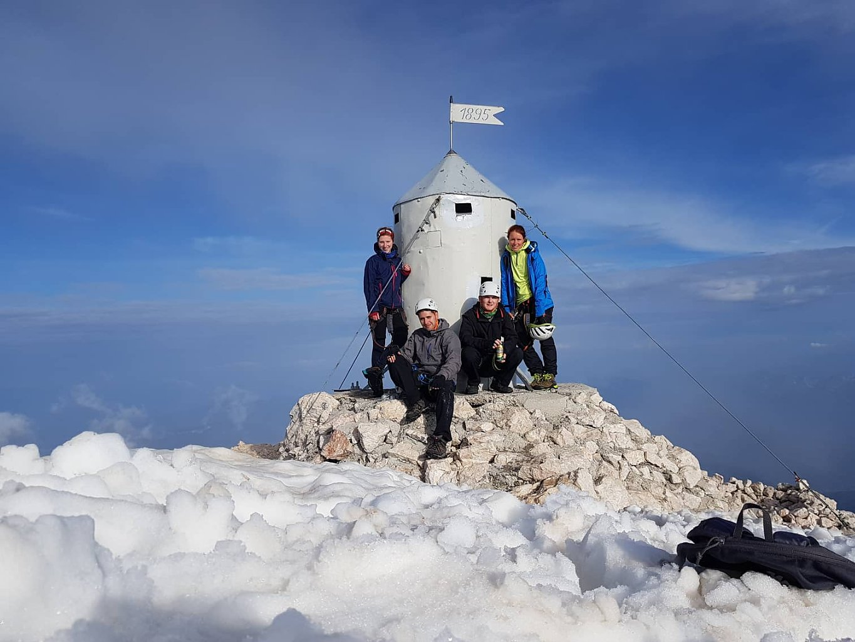 Denisa na vrcholu Triglav (16.6.2018 19:00)