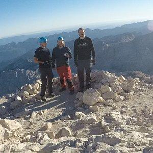 Vašek na vrcholu Triglav (28.9.2018 20:30)