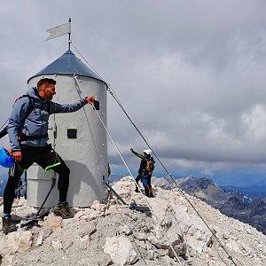 Martin Vlček na vrcholu Triglav (16.7.2019 11:45)