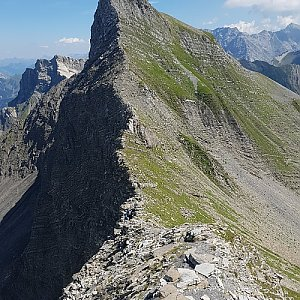 michal čech na vrcholu Grauspitz (12.8.2018 13:15)