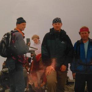 Michal Kříž na vrcholu Galdhøpiggen (28.7.2003 13:11)