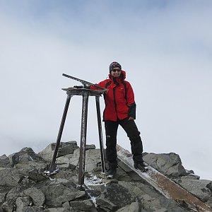 ZdenkaV na vrcholu Galdhøpiggen (31.7.2015)