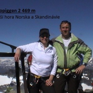Jirka Zajko na vrcholu Galdhøpiggen (14.7.2011 12:13)
