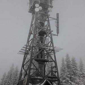 Petr T. na vrcholu Černá hora