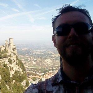 Petr Papcun na vrcholu Monte Titano (10.9.2018 11:15)
