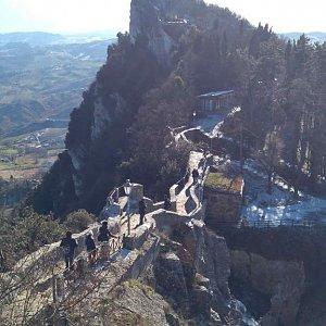 michalzhor na vrcholu Monte Titano (3.1.2019 9:00)