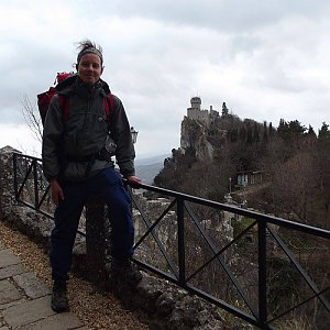 Jan Rendl na vrcholu Monte Titano (2017)