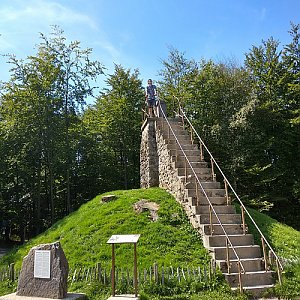 Jenda na vrcholu Signal de Botrange (22.8.2019 13:23)