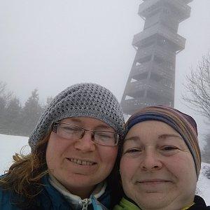 Alžběta Šlosarová na vrcholu Velký Javorník (26.12.2019 9:13)