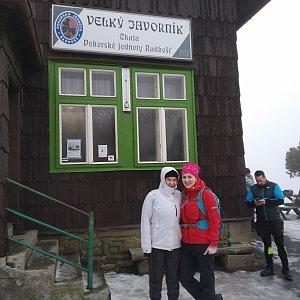 Jana Mitášová na vrcholu Velký Javorník (11.1.2020 11:00)