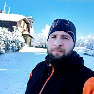 Vašek Bauer na vrcholu Velký Javorník (21.1.2020 11:50)