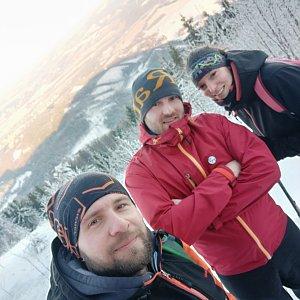 Vašek Bauer na vrcholu Velký Javorník (21.1.2020 15:07)