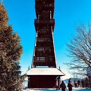 cadic na vrcholu Velký Javorník (25.1.2020 11:30)