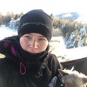 Szegidewiczová Alexandra na vrcholu Velký Javorník (26.1.2020 11:03)