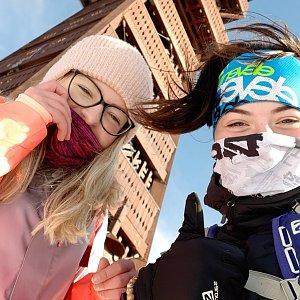 Ester Ostárková na vrcholu Velký Javorník (9.2.2020 13:23)
