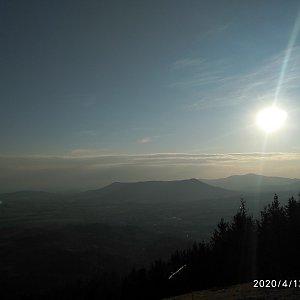 Alžběta Šlosarová na vrcholu Velký Javorník (13.4.2020 7:08)