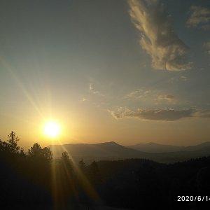 Alžběta Šlosarová na vrcholu Velký Javorník (14.6.2020 5:55)